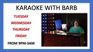 Karaoke with Barb
